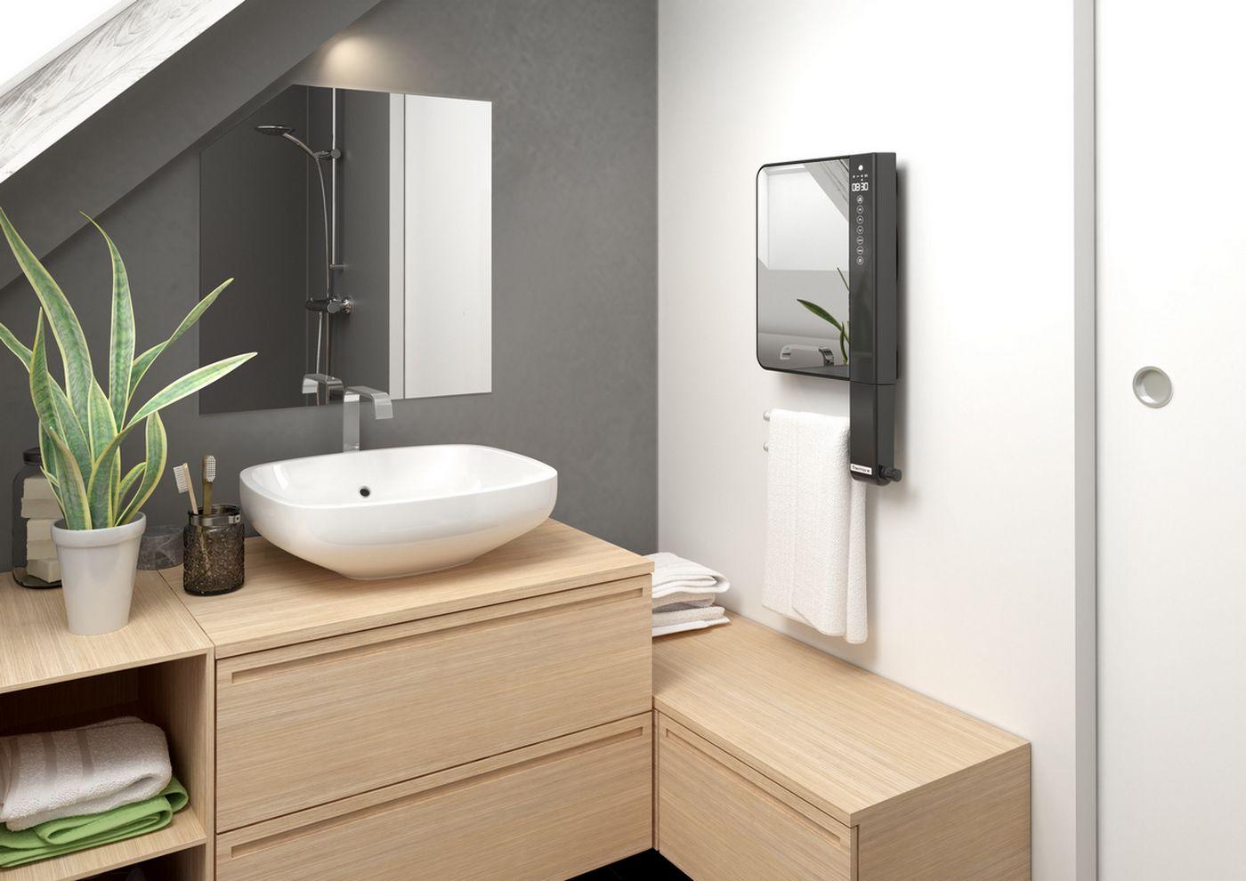 Grzejnik łazienkowy z lustrem